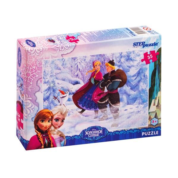 "Пазл 35 деталей ""Холодное сердце"" (Disney), Step Puzzle"