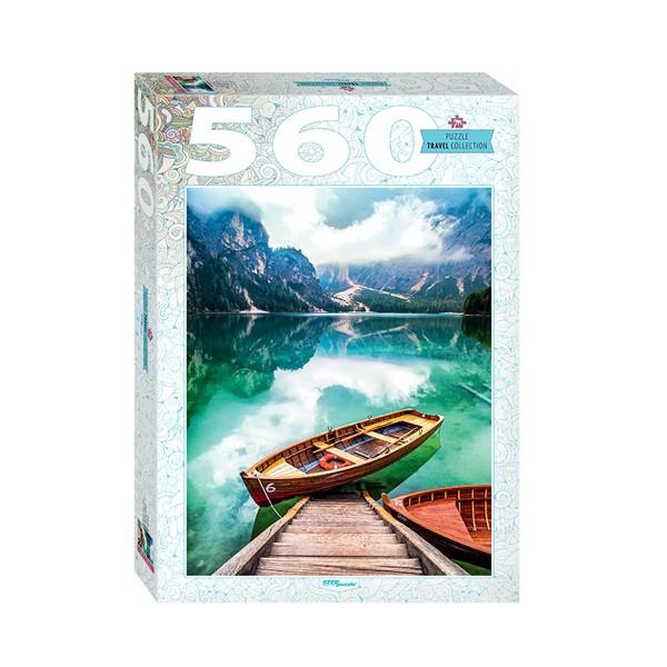 """Пазл 560 деталей """"Италия. Озеро Брайес"""", Step Puzzle"""