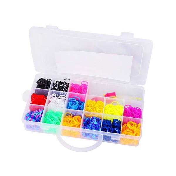 Набор для плетения из резинок в пластиковом контейнере 4200 шт.