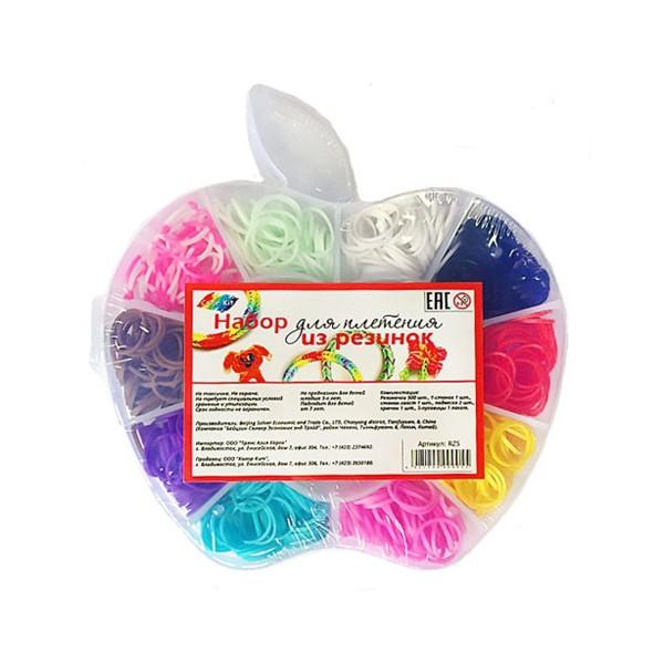 """Набор для плетения из резинок """"Яблоко"""" 500 шт., Color KIT"""