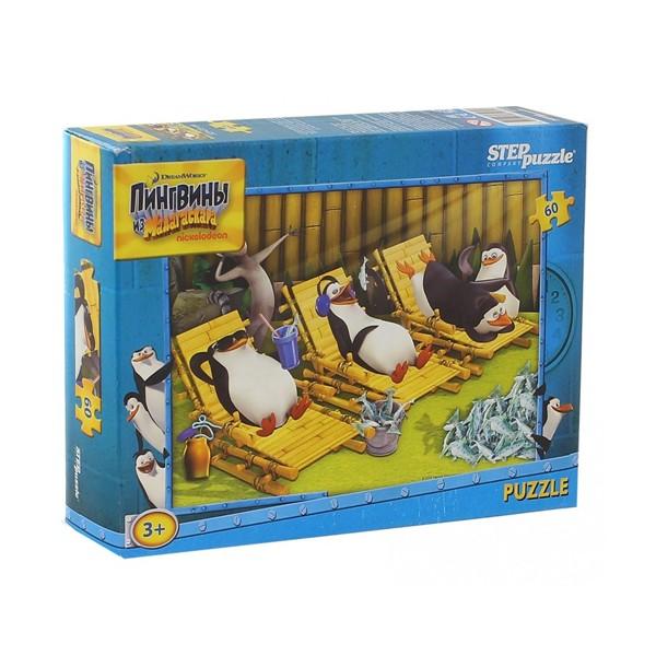 """Пазл 60 деталей """"Пингвины из Мадагаскара"""" (Dreamworks), Step Puzzle"""