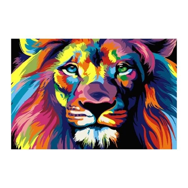 Картина по номерам «Радужный лев», CX 3251