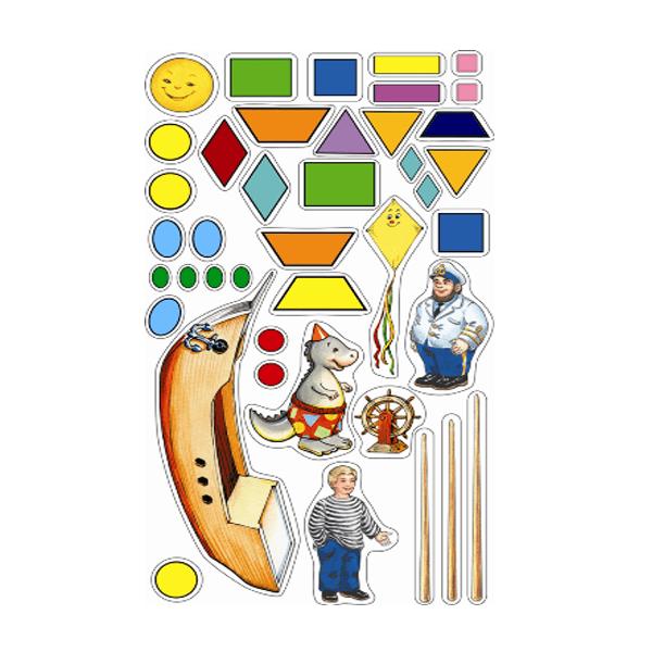 """Настольная игра с волшебными наклейками """"Волшебная геометрия"""", Нескучные игры"""