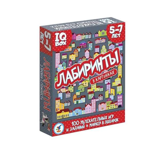 """Асборн – карточки. IQ Box """"Лабиринты"""" 5-7 лет"""